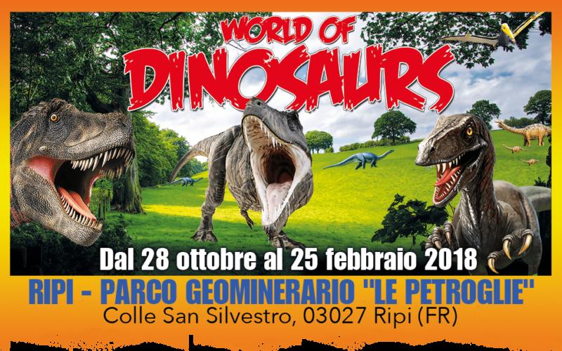 THE WORLD OF DINOSAURS – L'incredibile parco tematico con dinosauri a grandezza naturale